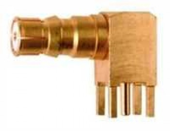QLS Angle Receptacle, female, for Printed Circuits