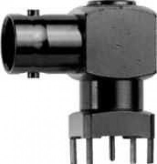 BNC Angle Receptacle, female, for Printed Circuits