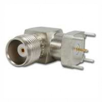 TNC Angle Receptacle, female, for Printed Circuits