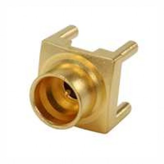 SMP Straight Receptacle, Male, for PCB