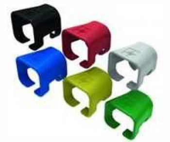 Colour coding clip for moulded RJ45 patch cord